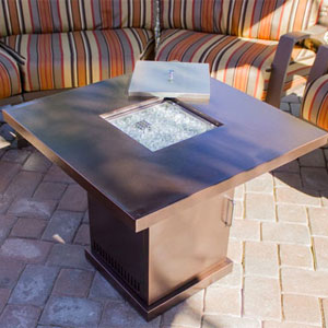Charmant Bronze Fire Pit Table