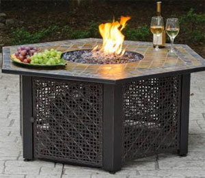 Hexagon Fire Pit Table