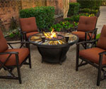 Oakland Living Round Fire Pit Table