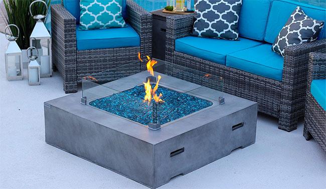 Akoya Concrete Fire Pit Table