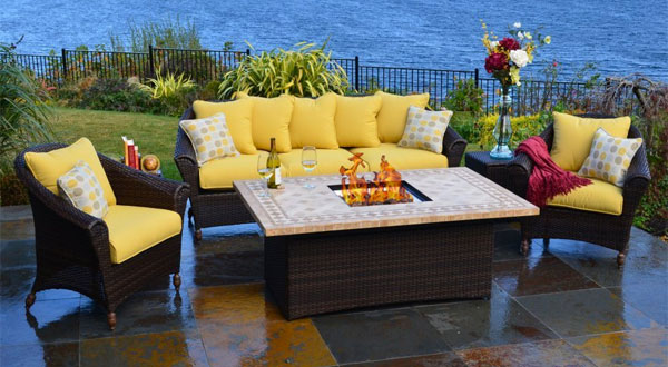 Bellamar 6-Piece Fire Pit/Sofa Set