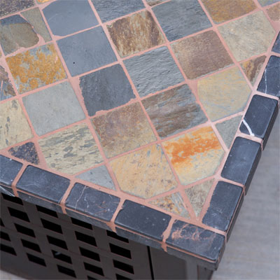 Close-up of Fire Pit Table Tile