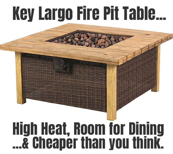 Key Largo Fire Pit Table: High Heat, Room for Dining and Cheaper than You Think