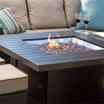 Patioflame Fire Pit Table With Glass Embers
