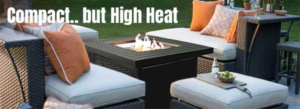 A Small Fire Pit Table That Has High Heat Output