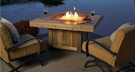 Rustic Fire Pit Table 4 Features I Like Including High Heat